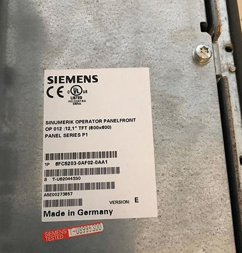 siemens sinumerik operator panel 6FC5203 0AF02 0AA1 5